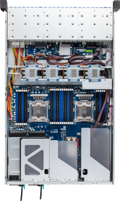 R280-F2O - Top (with Riser Cards)