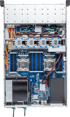 R280-F2O - Top (without Riser Cards)
